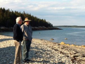 My Uncle Jack and me on the Atlantic shore, Owls Head, Maine
